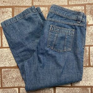 LIZ & CO Retro-Look Cropped Jeans - Size 10